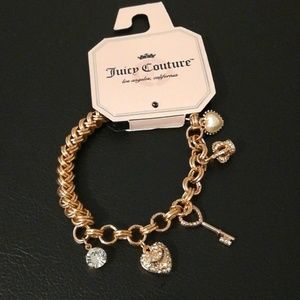 NWT. 👑Juicy Couture rosegold charm chain bracelet